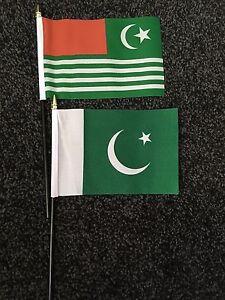 Hand Flag Pakistan Flag Choice of Polyester 5x3/' Table Flag.Free P/&P 3x2/'