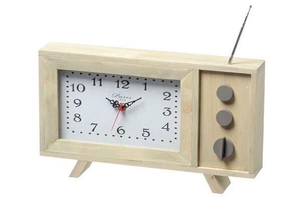 FleißIg Standuhr Tv Braun Holz Retro Zeitmesser Uhrzeit Designuhr Nostalgie Modischer (In) Stil;
