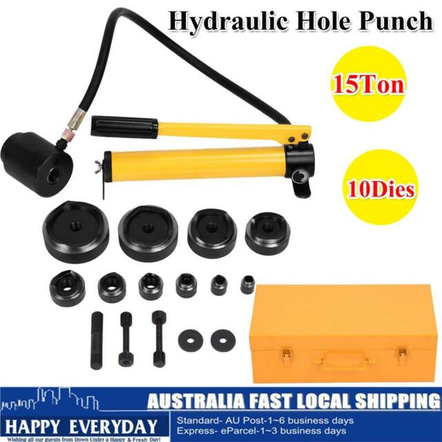 6 Die Hydraulic Knockout Punch Driver Kit Hole Tool molds 16-51MM