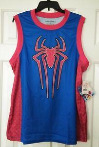 3c98f0e7b3570 Image is loading Marvel-Spider-Men-T-Shirt-Tank-Tee-Basketball-