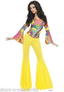 Moda Caschetto Costume Svasati Anni Sexy Hippy 70 Donna 1960s XqxUwIP