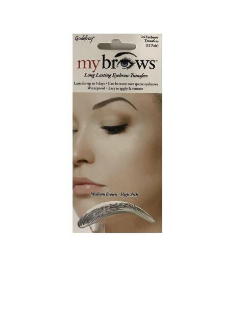 Godefroy 1944 Mybrows High Arch Eyebrow Tattoo Medium Brown 1 Ounce