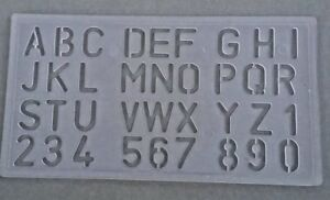 Details about THE PROTOTYPE 20 MM ITALIC FONT UPPER LOWER CASE ALPHABET  LETTERS & NUMBERS