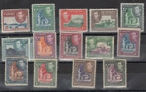 St-Vincent-KGVI-1938-Set-To-1-SG149-159-MH-MNH-High-Values-J4343