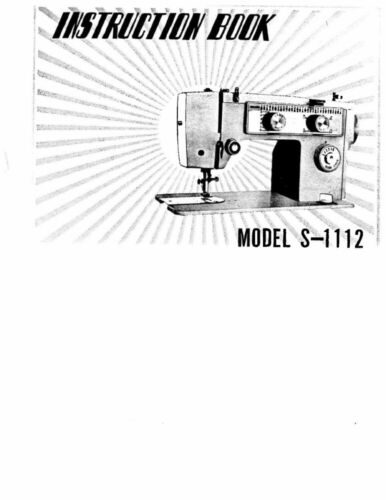 White WS1112 Sewing MachineEmbroiderySerger Owners Manual