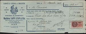 DAX-40-USINE-de-BONNETERIE-amp-LAINES-a-TRICOTER-034-Mathieu-SAINT-JEAN-034-en-1938