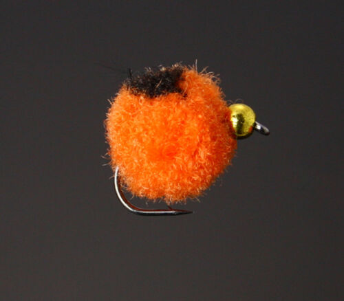40Pcs Glo Bug Egg Fly Red//Orange Salmon Trout Fly Fishing Flies H09
