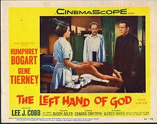 THE LEFT HAND OF GOD 11x14 HUMPHREY BOGART/GENE TIERNEY orig lobby card poster