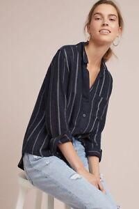 Cloth Nuovo Szm Camicia Righe Down Button Lunghe Zaffiro Stone Maniche A TpHSdn6p