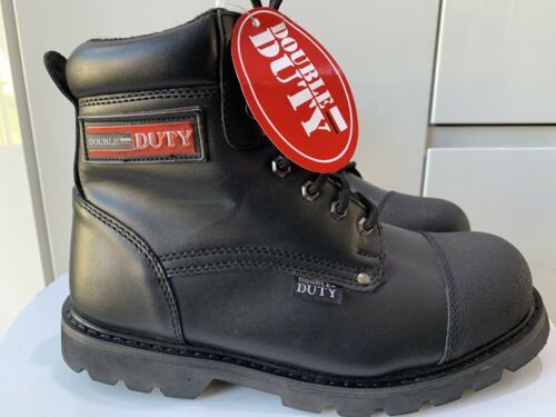 REDUCED MENS  LEATHER SAFETY BOOTS STEEL TOE CAP WORK BOOTS SIZE 7 RRP£69.99