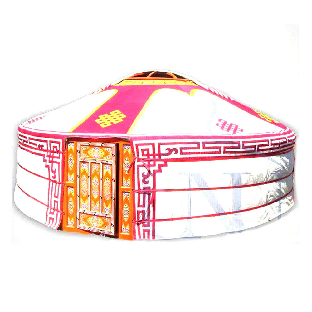 Mongolian Yurt, Pink Canvas Cover with  Ulzii Pattern  cheap wholesale