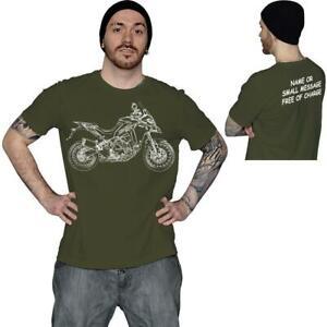 Multistrada-Sketch-Moto-Biker-T-shirt-regalo-de-cumpleanos