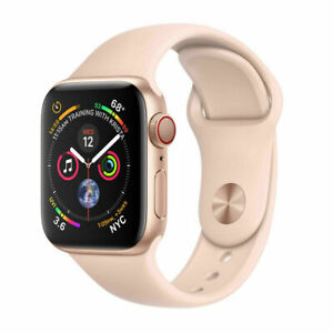Apple-Watch-Series-4-GPS-Cellular-44MM-Gold-Aluminum-Pink-Sport-Band-Good