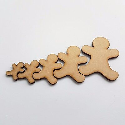 Gingerbread Man,Wood embellishments x 30