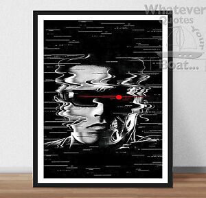 THE TERMINATOR Arnold Schwarzenegger Framed Canvas Print ~ More Size ~