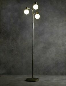 best sneakers dcff3 32333 Details about M&S Sadie Floor Lamp Metal Floor Lamp Glass shaded Lighting  Fixtures Home Light