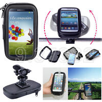 Waterproof Bike Motorcycle Handlebar Holder Mount Bag Case For Cellphones Gps