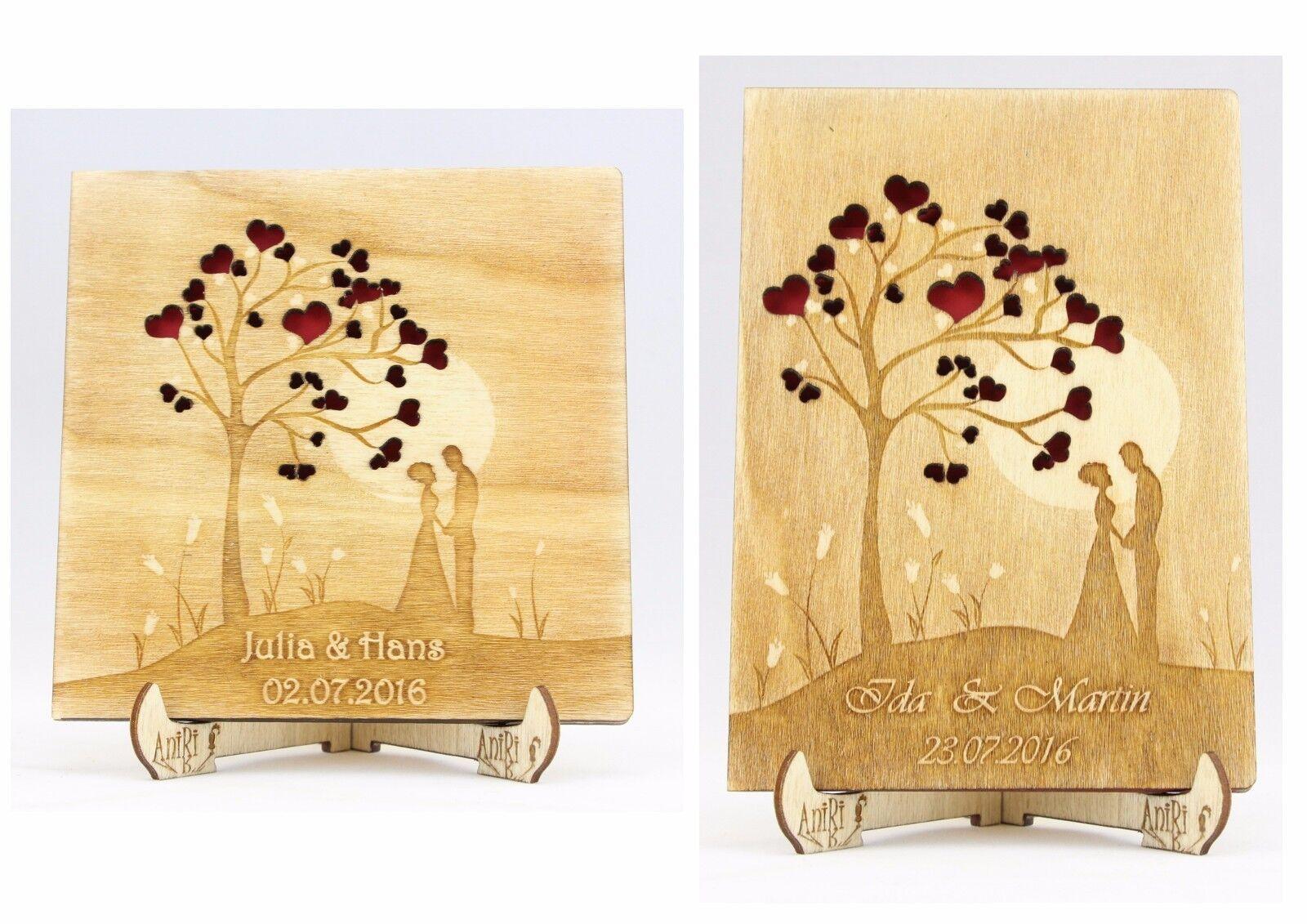 Personalisiert Gästebuch, Hochzeitsbaum, Holz, Baum der Liebe, Hochzeit, Ehepaar