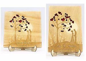 personalisiert g stebuch hochzeitsbaum holz baum der liebe hochzeit ehepaar ebay. Black Bedroom Furniture Sets. Home Design Ideas
