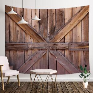 Western Rustic Wooden Door Tapestry Wall Hanging Art For Bedroom Living Room   EBay