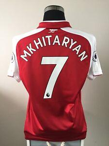 san francisco f2bb3 ee679 Details about MKHITARYAN #7 Arsenal Home Football Shirt Jersey 2017/18 (L)