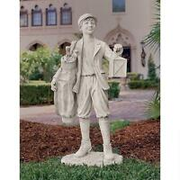 Nostalgic Golf Caddie Garden Statue Caddy Boy Home Sculpture