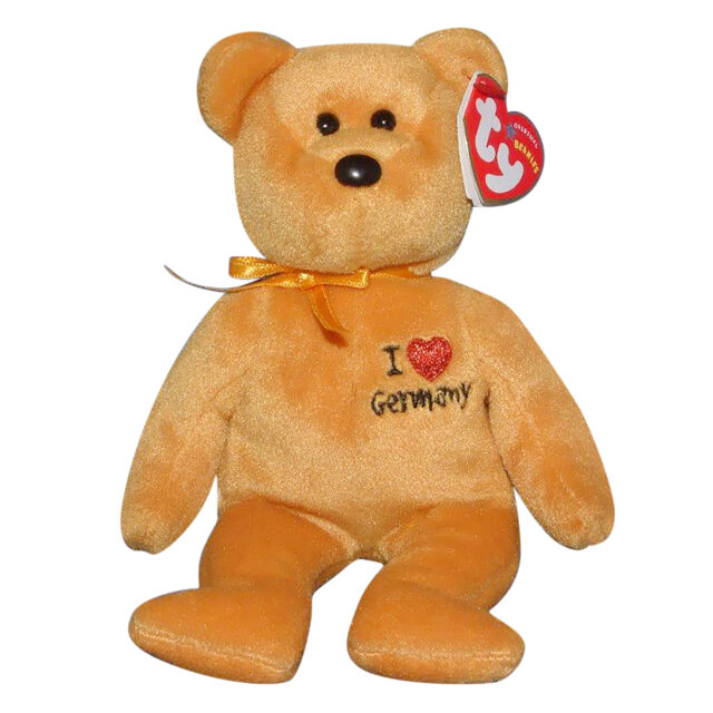 - MWMT I Love Germany - Exclusive TY Beanie Baby GERMANY the Bear 8.5 inch