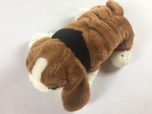 Fiesta-Plush-Puppy-Dog-VTG-1995-Lying-Animal-10-034-Stuffed-90s-Kids-Toy-Cuddly