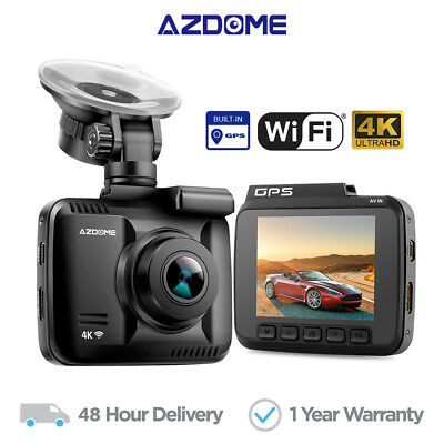 AZDOME Cámara de Coche Ultra HD 4k 2160P dashcam WIFI GPS Car Dash Cam DVR GS63H