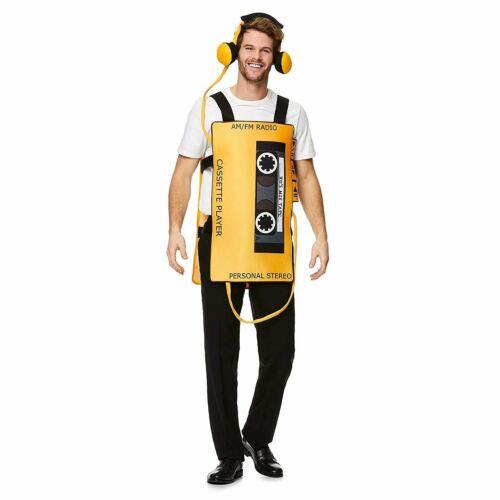 Adulte Cassette Player Costume-Taille Unique