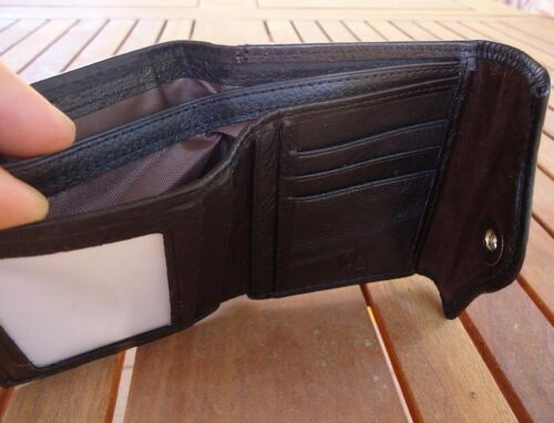 Genuine natural leather men/'s wallet cards luxury card money id vintage
