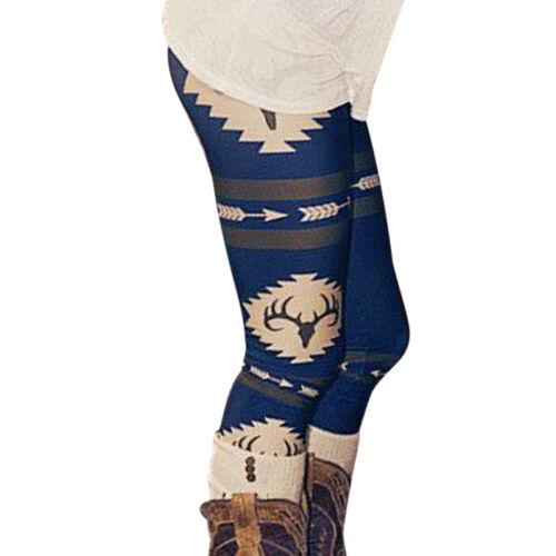 Damen Kinder Stretchhose Weihnachten Camo Hose Leggins Leggings Jeggings Winter