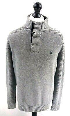 Crew Clothing Maglione Pullover Da Uomo Grigio Medio M Cotone 1/4 Bottoni-mostra Il Titolo Originale Avere Uno Stile Nazionale Unico