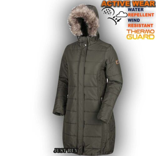 Women Padded Jacket Camping Work Parka Quilted Winter Long Coat Insulated Fermin