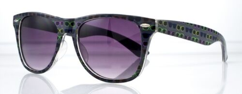 80s Retro Indie Hipster Large Sunglasses Print Frame 80s Retro Smoke Lens