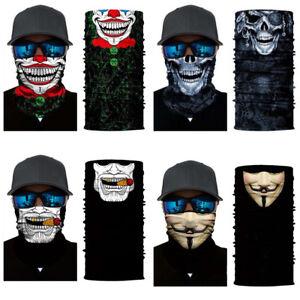 Cycling-Face-Shield-Sun-Mask-Neck-Balaclava-Headwear-Clown-Skull-Sport-Fishing