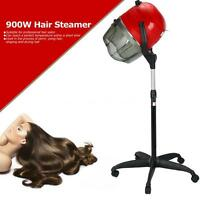 Adjustable Stand Up Hood Floor Hair Bonnet Dryer Rolling Wheels Red on sale