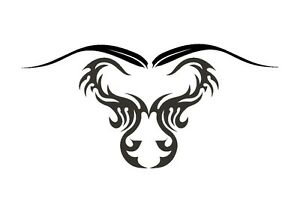 Tattoo-Inspired-Highland-Cow-Stencil-350-micron-Mylar-not-thin-stuff-TaT0069