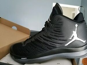 69f9173f721 Nike Air Jordan Super.Fly 5 Black White Men s Basketball Shoes ...