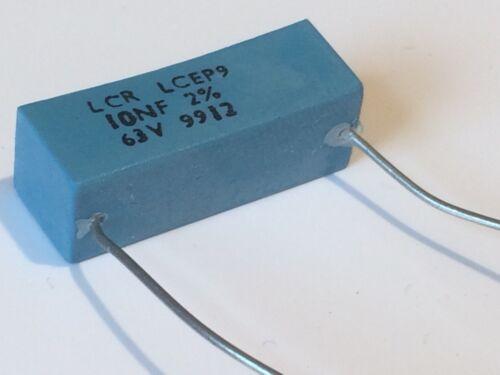 10nf 63v 2/% LCR esteso FOIL di polistirene Condensatore ep9 ad2r16
