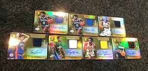 2014-15-Panini-Gold-Standard-Marks-Of-Gold-Auto-Jersey-Lot-of-7-189
