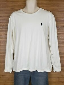 Polo-By-Ralph-Lauren-White-Long-Sleeve-T-Shirt-Mens-Size-Large-L