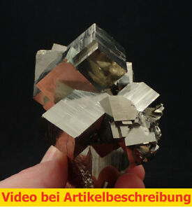 7241-Pyrit-pyrite-super-Aufbau-und-Glanz-360-Grad-Huanzala-Peru-10-7-7-cm-MOVIE