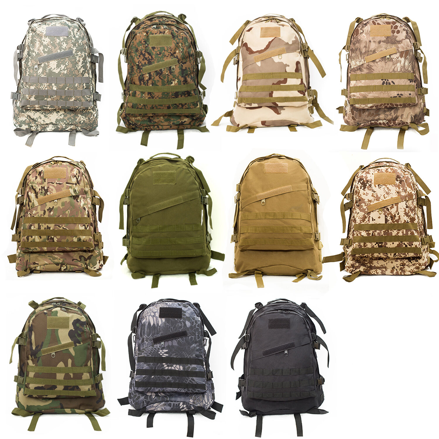 1b33e95dd9 40L 3D Molle Backpack Outdoor Tactical Military Rucksack Bag Hiking Camping  Bag 2 2 of 9 ...