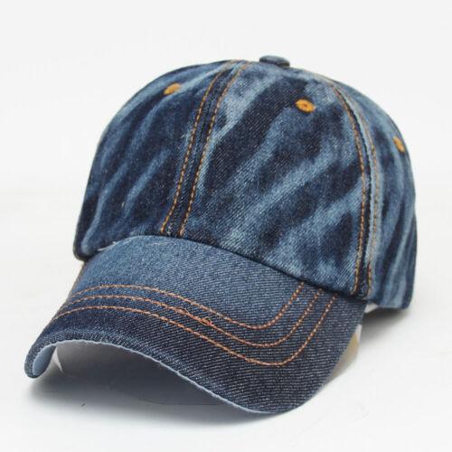 Mens Women/'s Girls Boys Cowboy Denim Punk Baseball Sports Hip Hop Hat Cap Blue