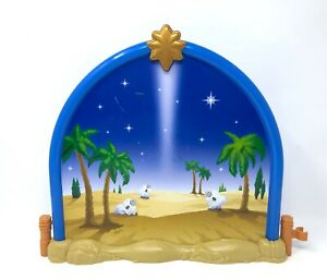 Christmas Stable Background.Details About Fisher Price Little People 2008 Nativity Stable Background Christmas N6010 Scene