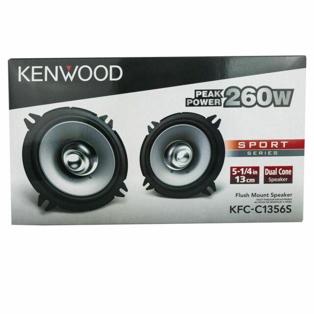 "KENWOOD KFC-835C 3.5/"" Dash-Mount 40 Watts Dual-Cone Car Audio Speakers Pair"