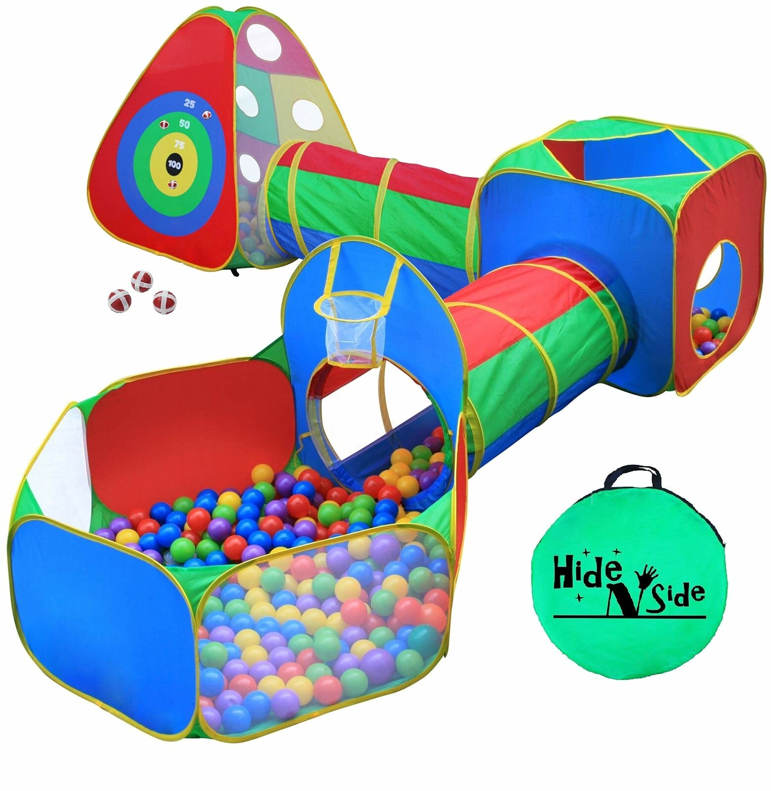 5pc ungar boll Pit Tents and Tunnels Toddler Jungle Gym Spela Tent med Spela Cr...