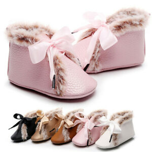 Fashion Baby Boots Newborn Girls Boys Warm Shoes First Walkers Shoes Booties