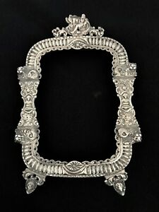 ANTIQUE-EUROPEAN-SILVER-FRAME-MADE-IN-18-OR-EARLY-19-CENTURY-HAND-CHASED-AS-IS